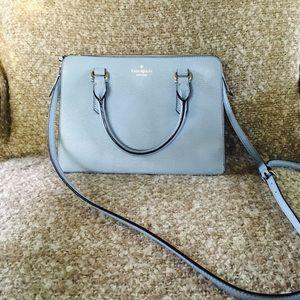 Kate spade baby blue leather shoulder bag